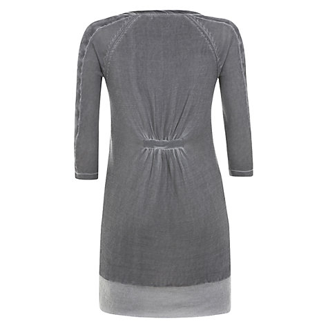 Buy Mint Velvet Silk Trim Jumper, Grey Online at johnlewis.com
