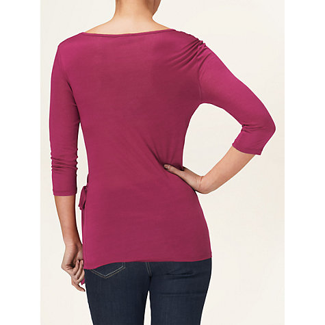 Buy Phase Eight Tie Side Top, Pink Online at johnlewis.com