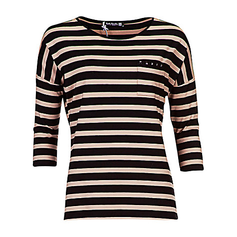 Buy Betty Barclay 3/4 Sleeve Top, Black/Camel Online at johnlewis.com
