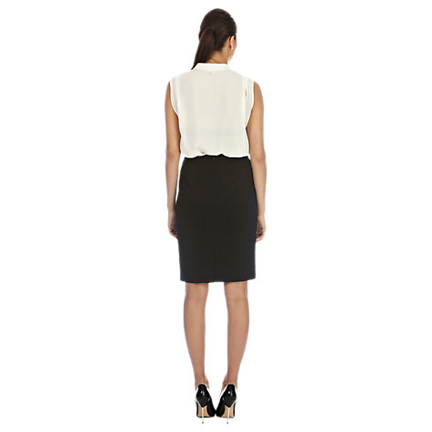 Buy Warehouse Stitch Detail Pencil Skirt, Black Online at johnlewis.com