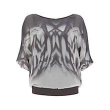 Buy Mint Velvet Una Print Bubble Top, Multi Online at johnlewis.com