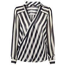 Buy Oasis Striped Wrap Shirt, Multi Blue Online at johnlewis.com