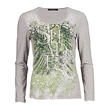 Buy Betty Barclay Print Top, Grey/Green Online at johnlewis.com