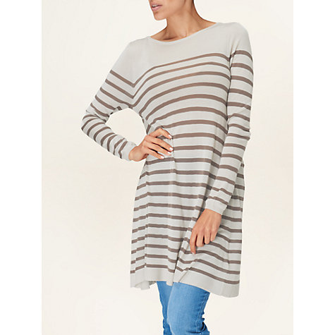 Buy Phase Eight Sabrina Stripe Tunic, Natural Online at johnlewis.com
