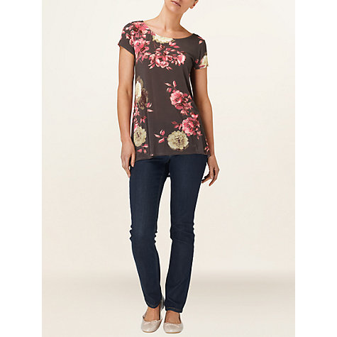 Buy Phase Eight Vintage Rose Top, Black Online at johnlewis.com