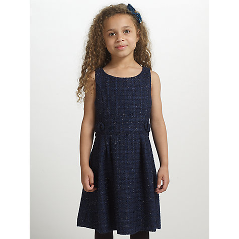 Buy John Lewis Heirloom Collection Sparkle Tweed Pinafore Dress, Navy Online at johnlewis.com