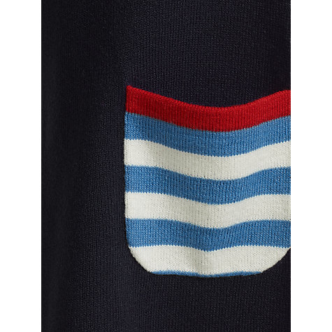 Buy John Lewis Girl Knitted Spot Dress, Navy Online at johnlewis.com