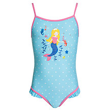 Buy John Lewis Girl Mermaid Swimsuit, Blue Online at johnlewis.com