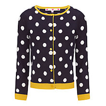 Buy John Lewis Girl Spot Cardigan, Peacoat Online at johnlewis.com