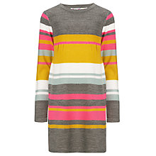 Buy John Lewis Girl Striped Knitted Dress, Grey/Multi Online at johnlewis.com