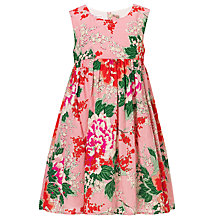 Buy John Lewis Girl Floral Print Dress, Vintage Pink Online at johnlewis.com