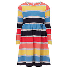 Buy John Lewis Girl Striped Jersey Dress, Multi Online at johnlewis.com