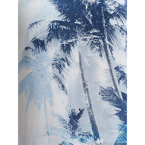Buy COLLECTION by John Lewis Lia Palm Print Top, Blue Online at johnlewis.com