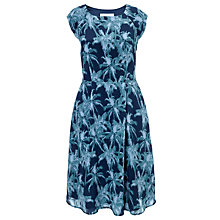Buy COLLECTION by John Lewis Marilyn Palm Print Dress, Blue Online at johnlewis.com