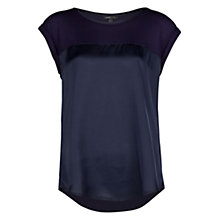 Buy Mango Satin Panel T-shirt Online at johnlewis.com