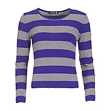 Buy Betty Barclay Striped Jumper, Violet/Grey Online at johnlewis.com