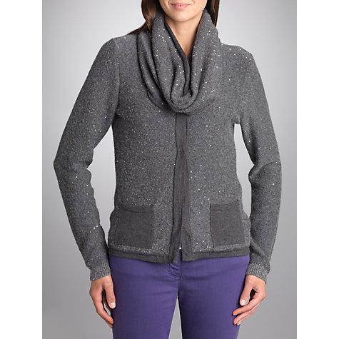 Buy Betty Barclay Melange Cardigan, Mid Grey Online at johnlewis.com