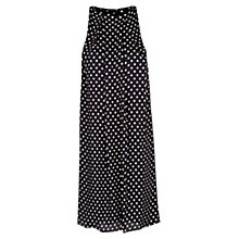 Buy Mango Flowing Polka Dot Dress, Black Online at johnlewis.com