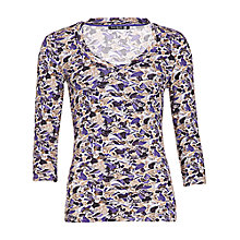 Buy Betty Barclay Shoe Print T-Shirt, Grey/Camel Online at johnlewis.com