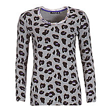 Buy Betty Barclay Paw Print T-Shirt, Grey/Black Online at johnlewis.com
