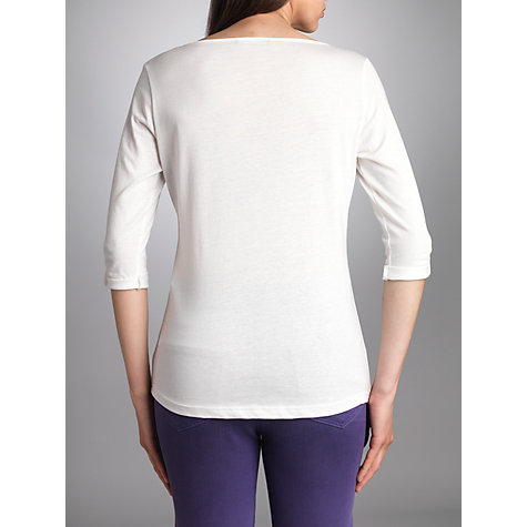 Buy Betty Barclay 3/4 Sleeve Print T-shirt, Off White Online at johnlewis.com