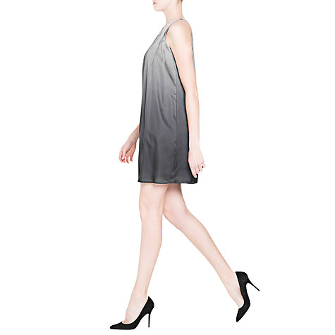 Buy Mango Satin Dress, Navy Online at johnlewis.com