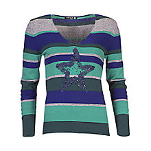 Buy Betty Barclay Striped Jumper, Dark Green/Emerald Online at johnlewis.com