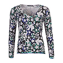 Buy Betty Barclay Star Jumper, Silver/Blue Online at johnlewis.com