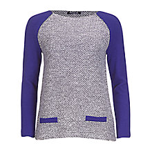 Buy Betty Barclay Angora Jumper, Violet/Grey Online at johnlewis.com