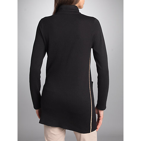 Buy Betty Barclay Zip Up Cardigan, Black/Grey Online at johnlewis.com