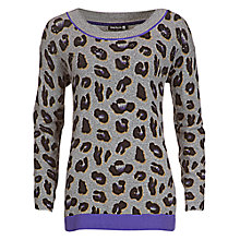 Buy Betty Barclay Leopard Print Jumper, Grey/Black Online at johnlewis.com