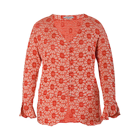 Buy Chesca Daisy Cardigan, Coral Online at johnlewis.com