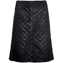 Buy Betty Barclay Quilted Faux Suede Skirt, Black Online at johnlewis.com