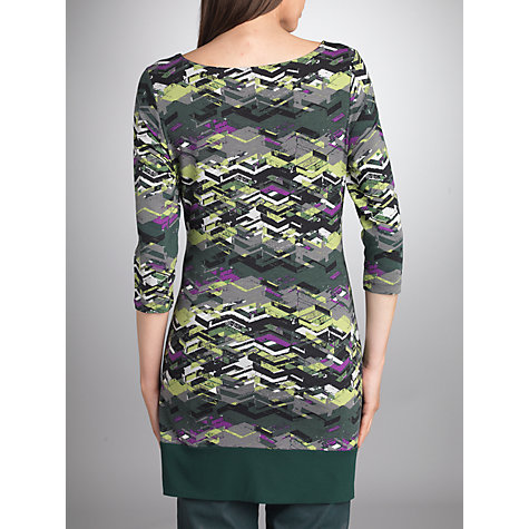 Buy Betty Barclay Print Tunic Dress, Grey/Green Online at johnlewis.com