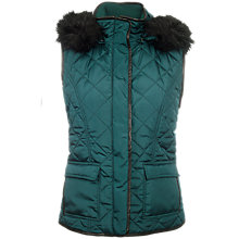 Buy Betty Barclay Quilted Gilet, Forest Green Online at johnlewis.com