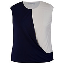 Buy Chesca Trim Drape Jersey Top, Navy/Ivory Online at johnlewis.com