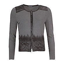 Buy Betty Barclay Zip Detail Cardigan, Mid Grey Melange Online at johnlewis.com