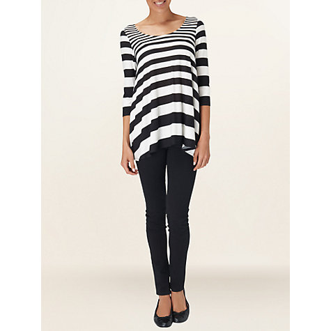Buy Phase Eight Stripe Swing Top, Black/White Online at johnlewis.com