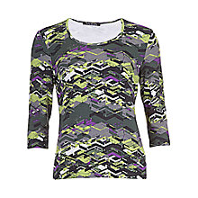 Buy Betty Barclay Zig Zag T-Shirt, Grey/Green Online at johnlewis.com