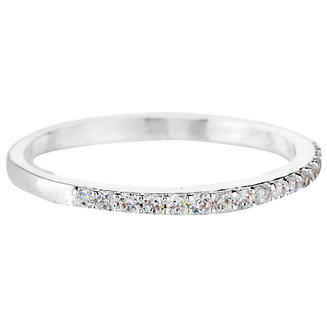 Buy Estella Bartlett Silver Plated Cubic Zirconia Row Ring Online at johnlewis.com
