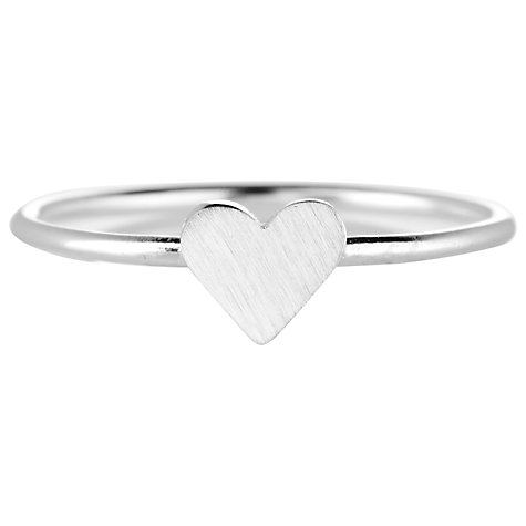 Buy Estella Bartlett Silver Plated Love Heart Ring Online at johnlewis.com