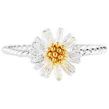 Buy Estella Bartlett Mini Wildflower Ring, Silver / Gold Online at johnlewis.com