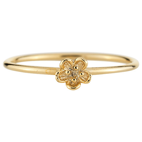 Buy Estella Bartlett Gold Plated Flower Ring Online at johnlewis.com