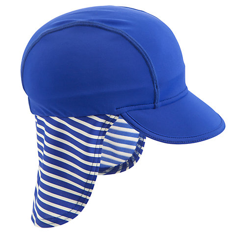 Buy John Lewis Stripe Surf Suit with Hat, Blue Online at johnlewis.com