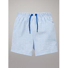 Buy John Lewis Striped Shorts, Blue/White Online at johnlewis.com