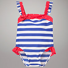 Buy John Lewis Nautical Striped Swimsuit, Navy/White Online at johnlewis.com