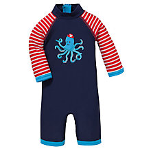 Buy John Lewis Octopus Sun Pro Suit & Hat, Navy Online at johnlewis.com