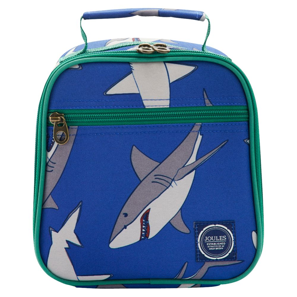 Little Joule Junior Shark Lunch Bag, Blue