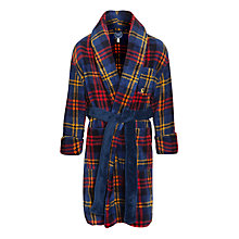 Buy Little Joule Roban Check Robe, Navy/Red Online at johnlewis.com