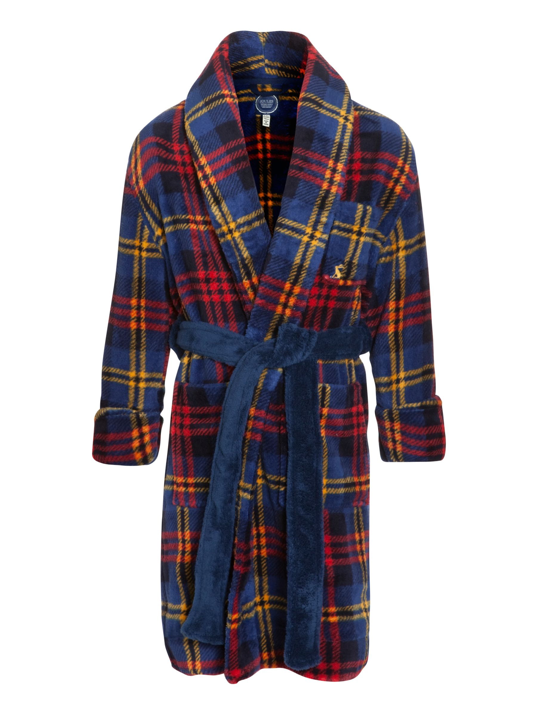 Little Joule Roban Check Robe, Navy/Red